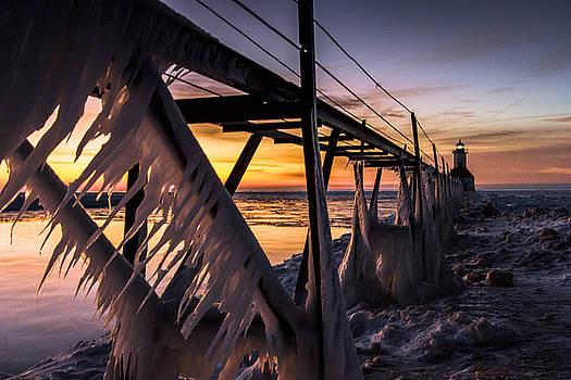 Sunlit Icicles  by Jackie Novak