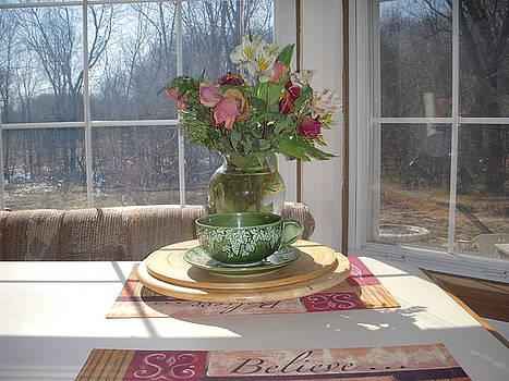 Sunlit window by Deborah Finley