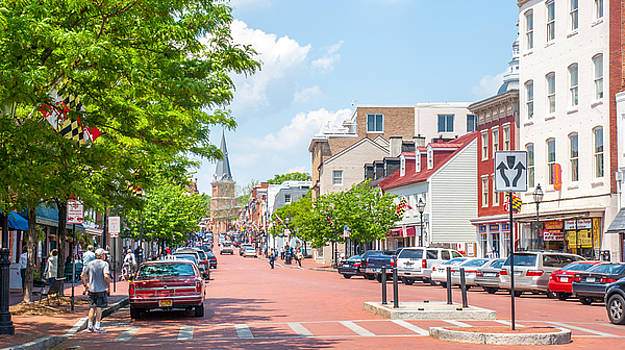 Sunny Day on Main by Charles Kraus