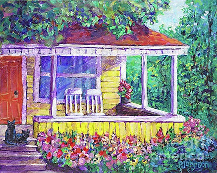 Sunny Porch by Peggy Johnson by Peggy Johnson