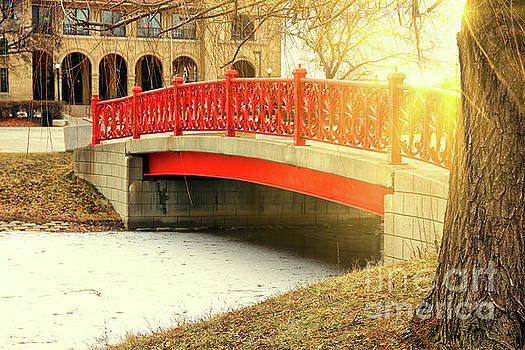 Sunrays over bridge by Maxwell Dziku