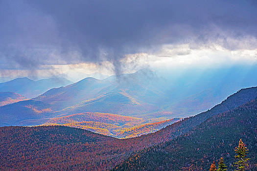 Toby McGuire - Sunrays over the Adirondacks from Little RPR Keene Valley NY