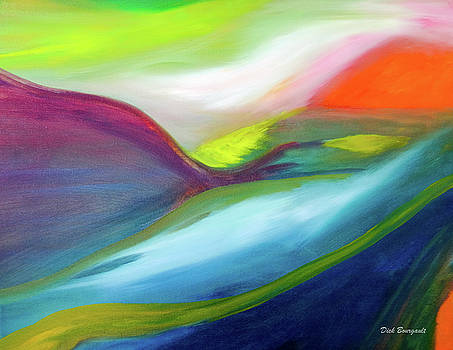 Sunrise Abstract by Dick Bourgault