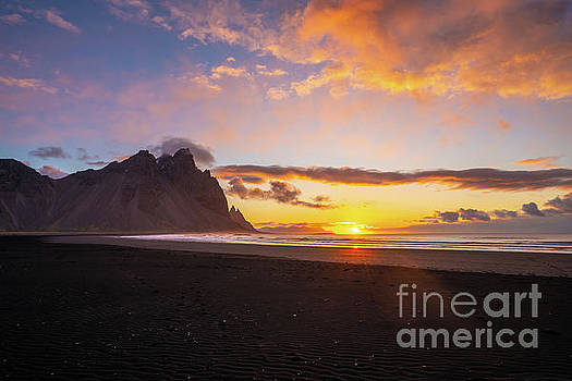 Sunrise Along the Beach in Iceland by Mike Reid