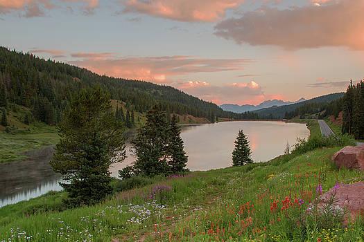Sunrise at Black Lake by Lois Lake