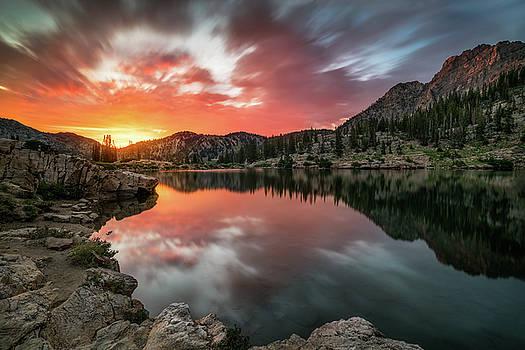 Sunrise at Cecret Lake by James Udall