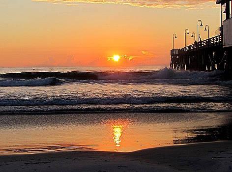 Sunrise at Daytona Beach Pier  008  by Chris Mercer