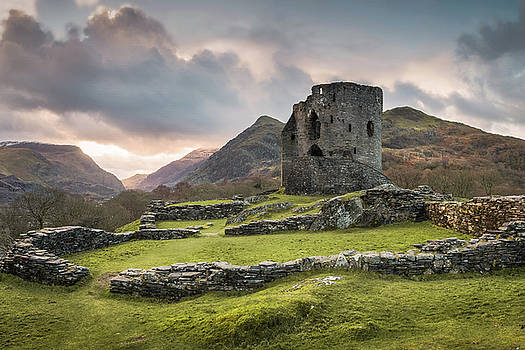 Sunrise at Dolbadarn Castle by Christine Smart