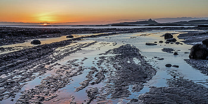 Sunrise at Dunstanburgh Castle by David Pringle