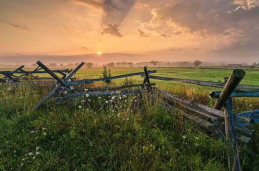 Sunrise at Gettysburg National Park by Craig Szymanski