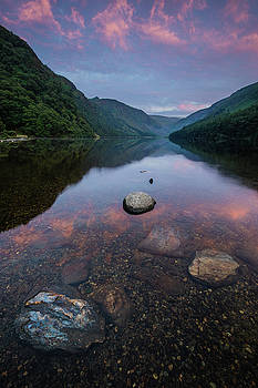 Sunrise at Glendalough Upper Lake #2, County Wicklow, Ireland by Anthony Lawlor