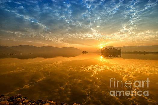 Sunrise at Jal Mahal by Yew Kwang