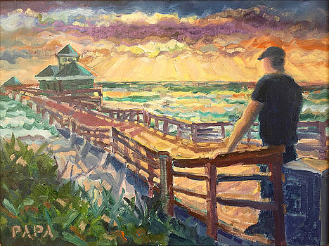 Sunrise at Juno Beach by Ralph Papa