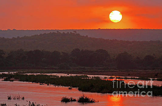Sunrise at Kruger National Park, South Africa by Wibke W