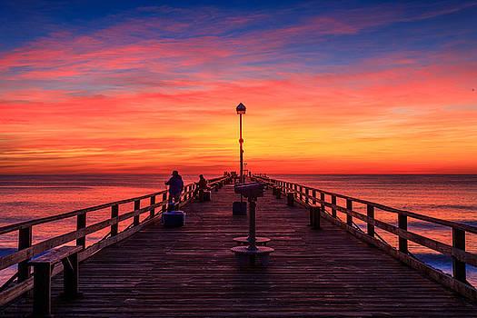 Sunrise at Kure Beach Pier by Nick Noble