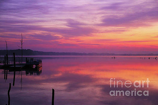 Sunrise at Manasquan Reservoir by Roger Becker