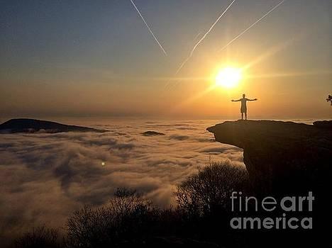 Sunrise at McAfee Knob, Virginia by William Sullivan