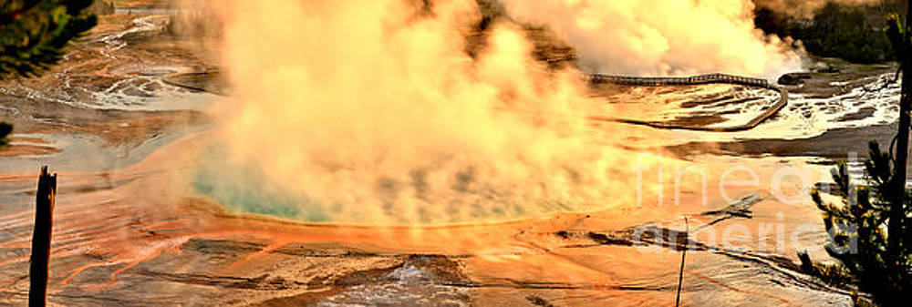Adam Jewell - Sunrise At Midway Geyser Basin