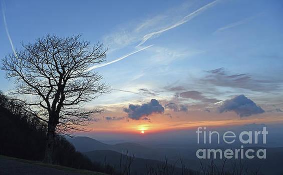 Sunrise at Rocky Knob - Blue Ridge Parkway by Kerri Farley