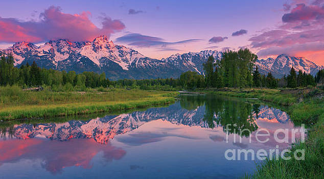 Sunrise at Schwabacher Landing, Grand Teton N.P by Henk Meijer Photography