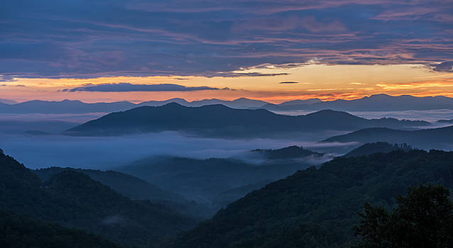 Sunrise at Standing Indian Gap by David Morefield