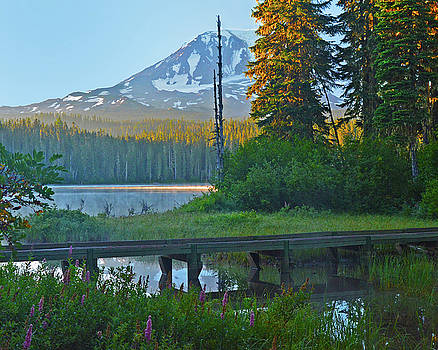Sunrise at Takhlakh Lake under Mt Adams by Jack Moskovita