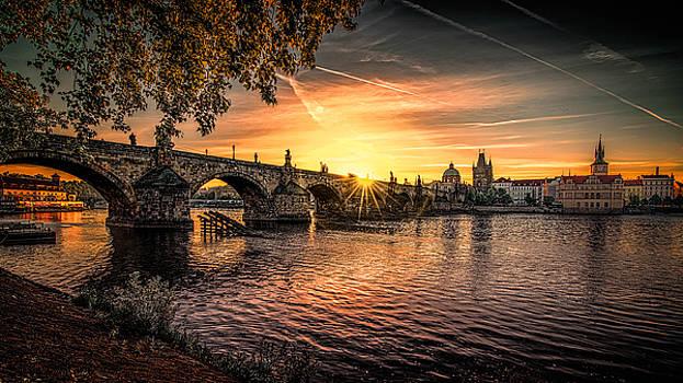 Sunrise at the Charles Bridge by Kevin McClish
