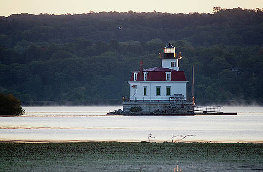 Sunrise at the Esopus Lighthouse by Jeff Severson
