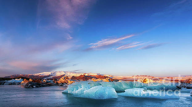 Sunrise at the Iceberg Lagoon by Jerry Fornarotto