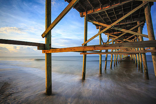 Sunrise at the Oak Island Pier by Nick Noble