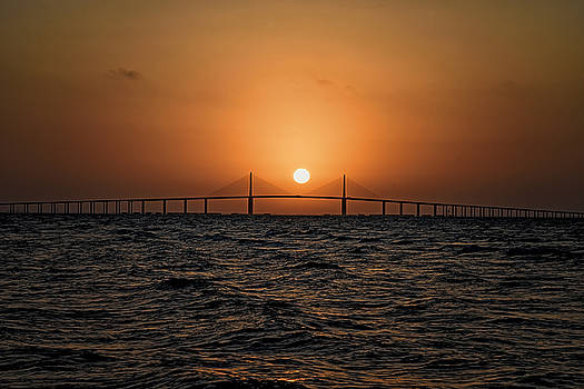 Sunrise at the Skyway Bridge 2 by Michael White