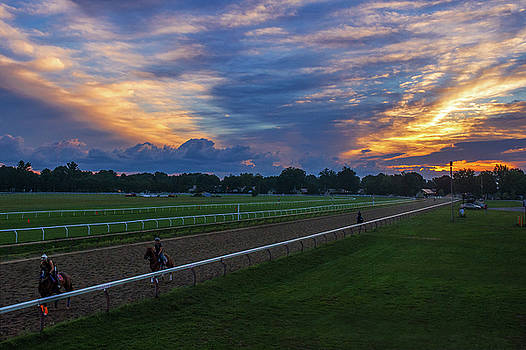 Sunrise at the track by Michael Gallitelli