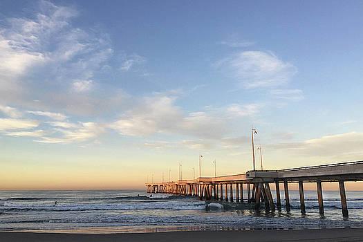 Art Block Collections - Sunrise at Venice Beach Pier