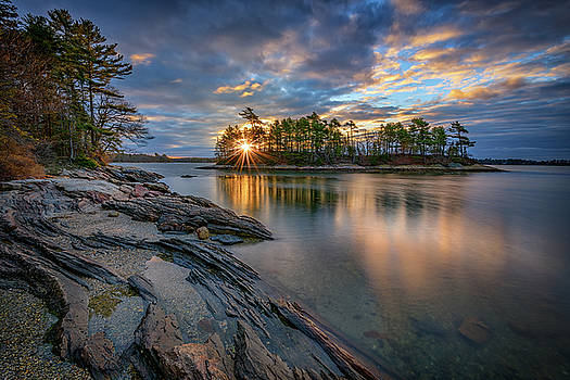 Sunrise at Wolfe's Neck Woods by Rick Berk