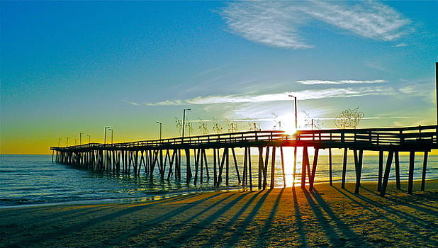 Sunrise Christmas Pier by E Robert Dee