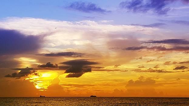 Sunrise Cloudy Morning  by Roland Macias