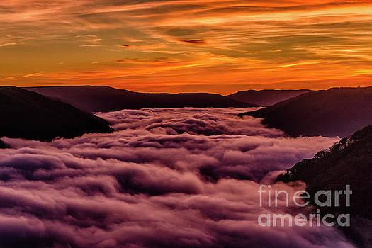 Sunrise Fog New River Gorge by Thomas R Fletcher