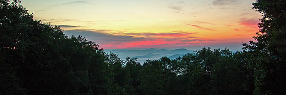 Sunrise from Maggie Valley August 16 2015 by D K Wall