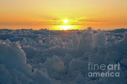 Sunrise from the Ice Piles by Sandra Updyke