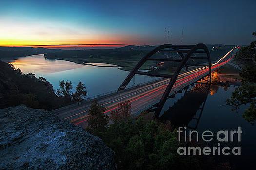Herronstock Prints - Sunrise greets the Lake Austin and the 360 Bridge as early morni