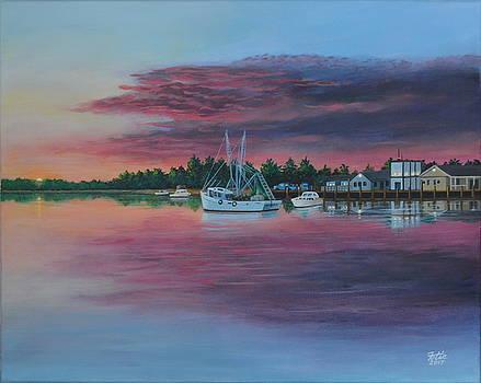 Sunrise Harbor by Anthony Fotia