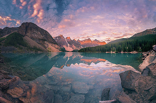 Sunrise hour at Banff by William Lee
