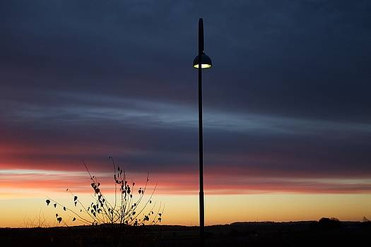 Sunrise in a Danish village by Ljiljana Jensen
