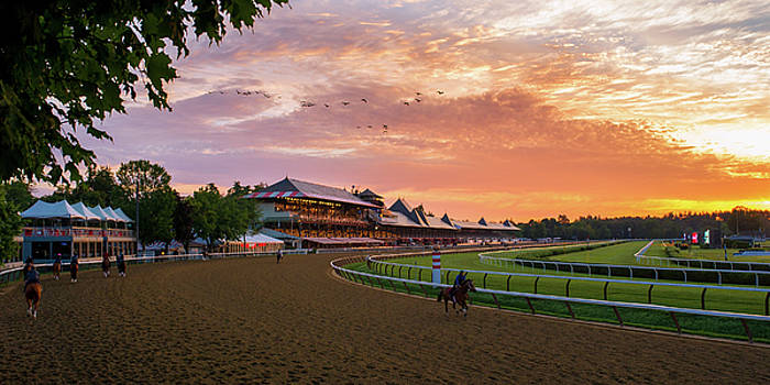 Sunrise in at the Track by Michael Gallitelli