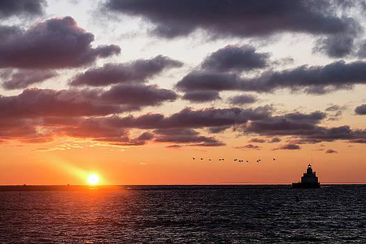 Sunrise in Manitowoc Wisconsin by Mary Lee Dereske