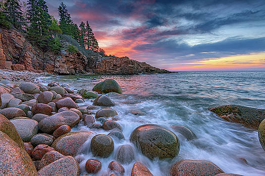 Sunrise in Monument Cove by Rick Berk