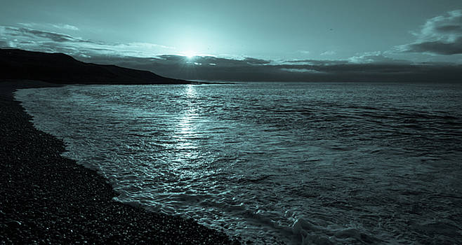 Sunrise in Stonehaven B-W by Sergey Simanovsky