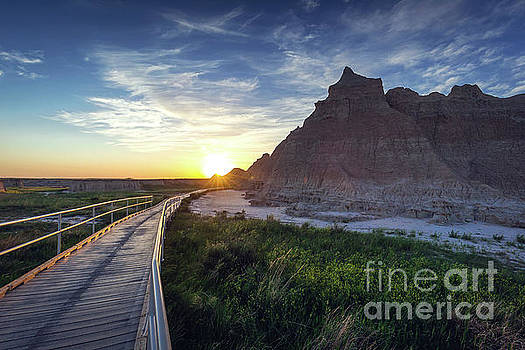 Sunrise in the Badlands by Joan McCool