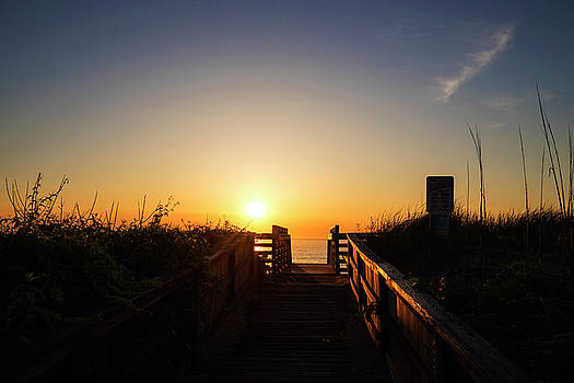 Sunrise in the Outer Banks by David Stasiak