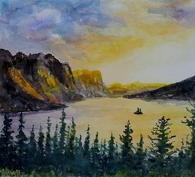 Sunrise in the Rockies. by David Frankel